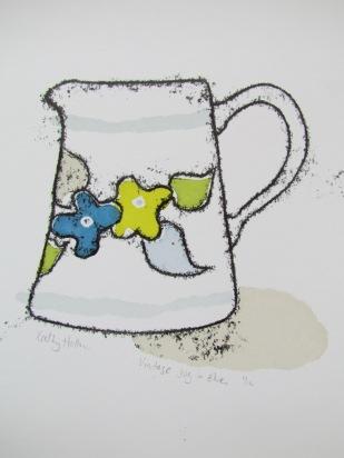 Vintage jug in blue