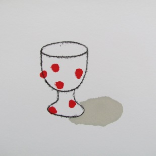 Dotty egg cup (red)
