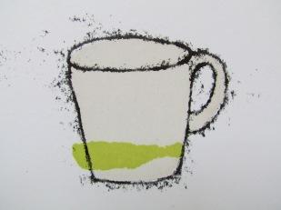 grass green cup