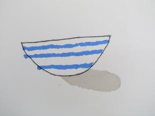 Stripe open bowl