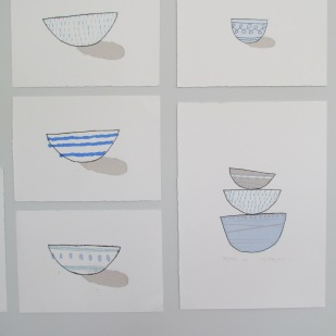 Blue bowl collection