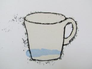 sky blue cup