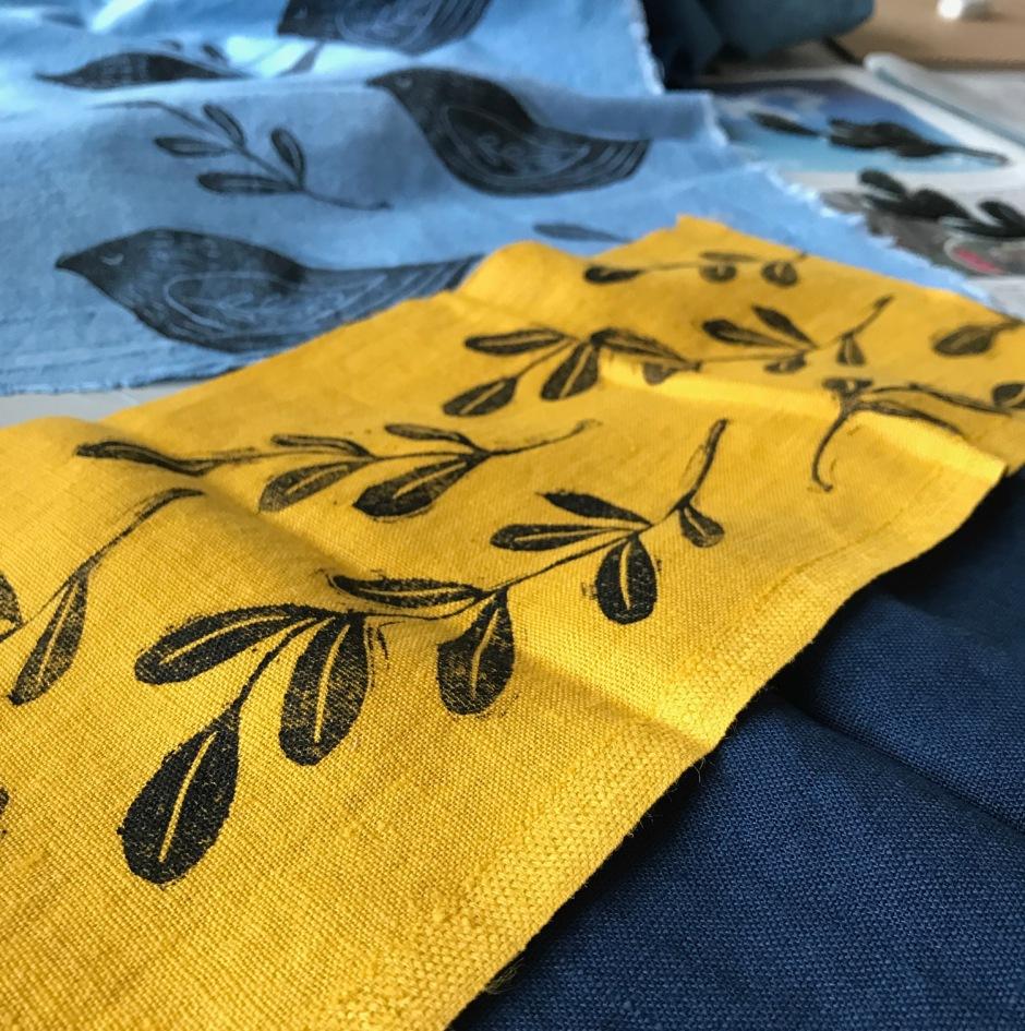 block print on fabric